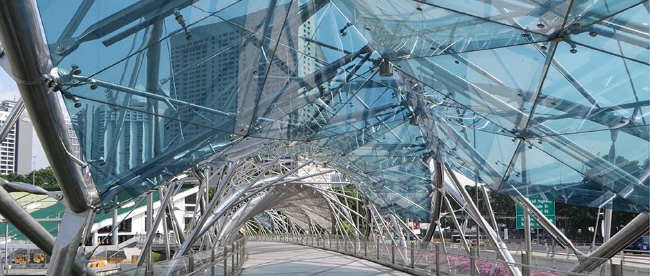 Helix-footbridge-Singapore-Shape-Urban