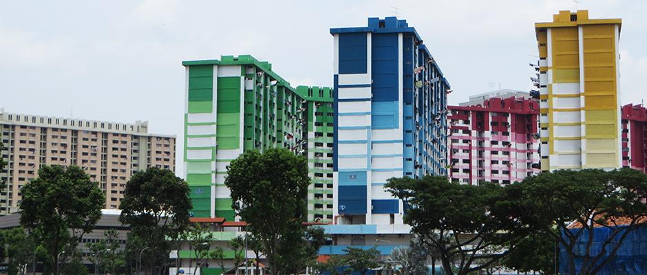 Make up for buildings Singapore Shape Urban