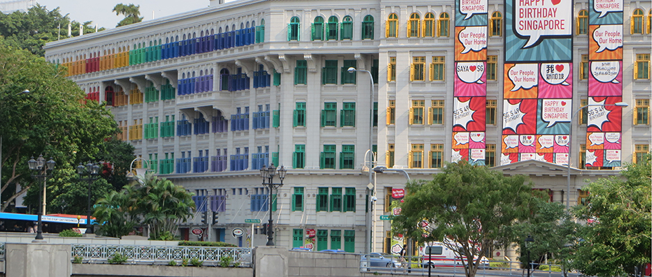 Spash of colour in Singapore Shape Urban